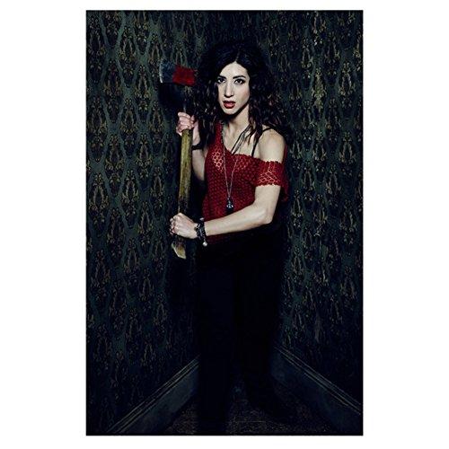 (Ash Vs. Evil Dead 11 Inch x 17 Inch lithograph Dana DeLorenzo Red Crocheted Top Standing in Corner Holding Hatchet kn)