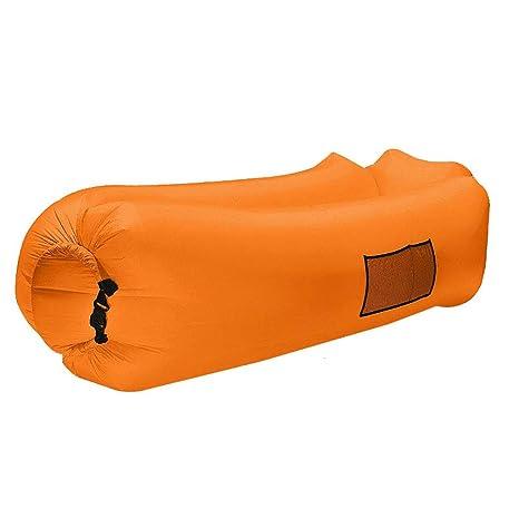 SOFA GGCG Sillón reclinable Inflable, Coche portátil reclinable Saco de Dormir Inflable Estera para Acampar