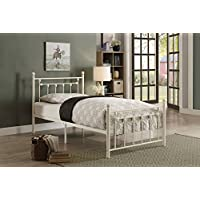 Homelegance Lia Tranditional Metal Platform Bed - Twin Size, White