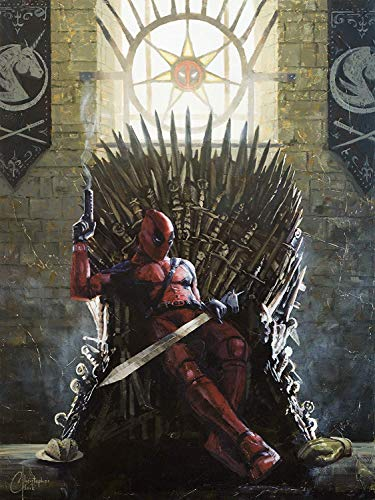 Christopher Clark Deadpool on the Iron Throne - Gallery Wrapped Canvas Wall Art by (12