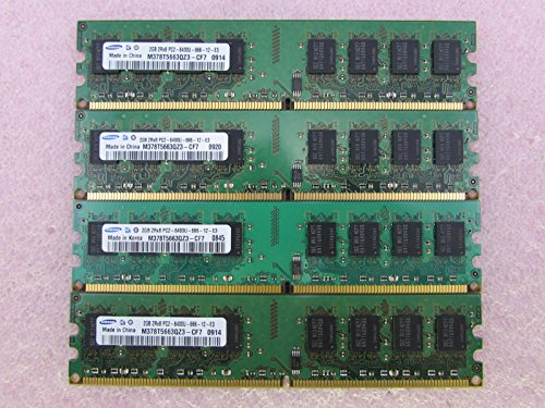 Samsung M378T5663QZ3-CF7 8GB 4 x 2GB PC2-6400U DDR2 800 Double Sided Memory Kit