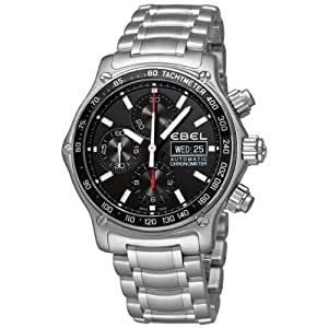 Ebel Men's 9750L62/53B60 1191 Discovery Chronograph Black Dial Watch