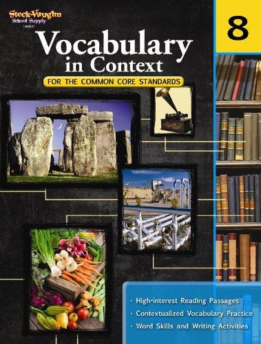 Price comparison product image Vocabulary in Context for the Common Core Standards: Reproducible Grade 8