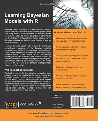 Learning Bayesian Models with R: Dr  Hari M  Koduvely: 9781783987603