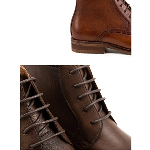 Medio Stivali NTUMT Brown Autunno Martin Scarpe Aiuto Stivali Brock Moda Inghilterra Tooling Vintage Alto Scarpe q4qPYwg