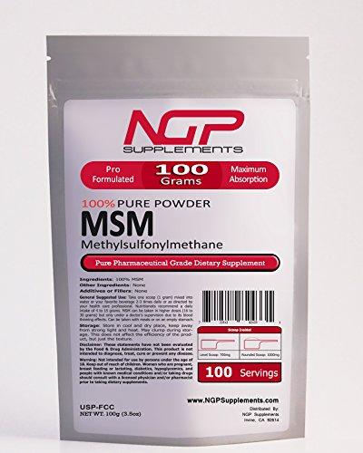 MSM Powder -METHYLSULFONYLMETHANE Powder - Pain Relief -Joint Arthritis ()