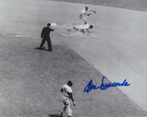 Autographed Newcombe Photo - 8x10 1955 World Series Champion + 1956 MVP Cy Young Winner - JSA Certified