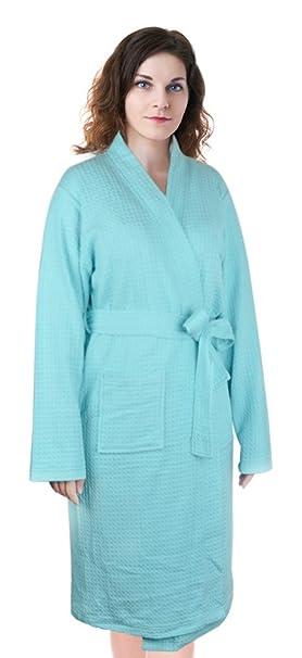 Amazon.com: Albornoz de algodón para mujer, ligero, para ...