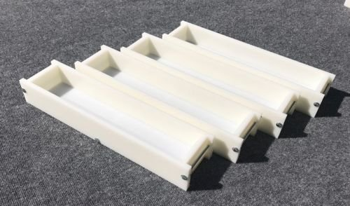 Lot of 4 HDPE Soap Loaf Making Mold 5 - 6 lb per mold CP MP HP Oven Safe