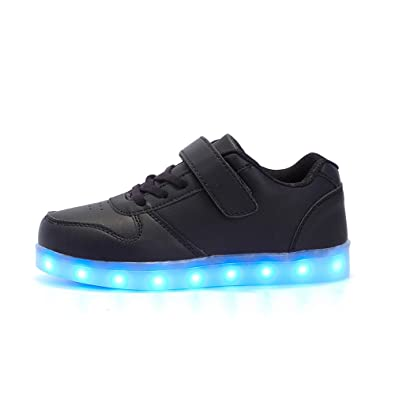 ByBetty Kids Boy Girl Light Up Trainers Shoes Flashing LED Luminous Lights  USB Charger Shoes  Amazon.co.uk  Shoes   Bags 5332512f3