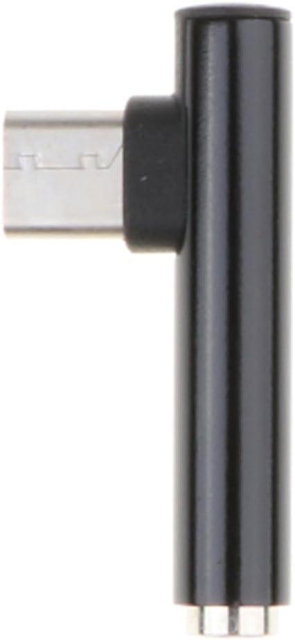 Tenlacum Adaptateur coud/é de type C vers prise jack 3,5 mm pour casque audio AUX pour t/él/éphone portable et ordinateur portable