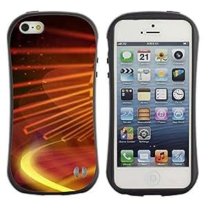 Suave TPU GEL Carcasa Funda Silicona Blando Estuche Caso de protección (para) Apple Iphone 5 / 5S / CECELL Phone case / / Digital galaxy /