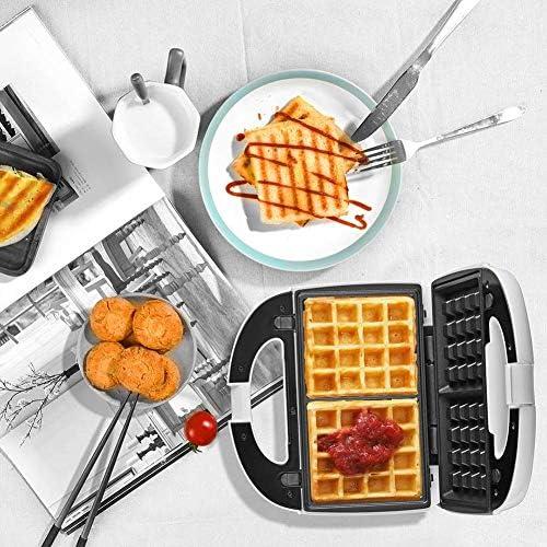 JZH-kitchen Sandwich Toaster Maker Braadmachine Afneembare anti-aanbakplaat, met controlelampje, automatische temperatuurregeling, antislip voeten