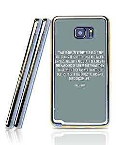 Film Supernatural Quotes Funda Case For Galaxy Note 5, Extra Slim Silicone Gel Golden-Bordered + 2 in 1 Premium Clear Design Back Funda Case For Samsung Galaxy Note 5