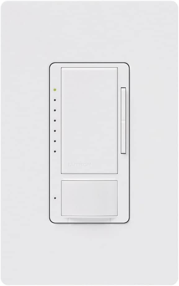 LUTRON ELECTRONICS INC MS-OPS2H-WH Maestro Vacancy Occupancy Sensor Switch White