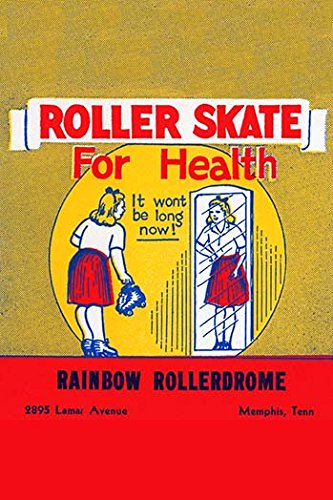 Buyenlarge 0-587-26276-1-C3248 ''Roller Skate for Health'' Gallery Wrapped Canvas Print, 32'' x 48''