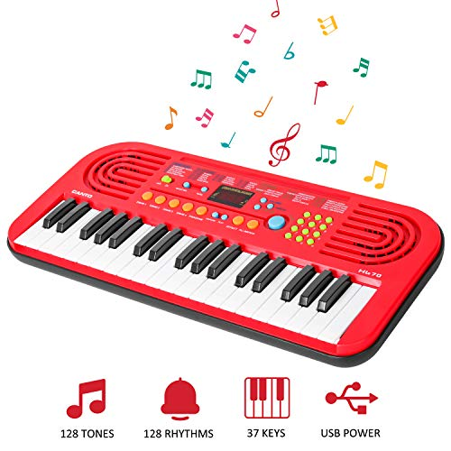 Keyboard Piano for Kids, 37-KeyElectronic Piano Keyboard with LED Screen Display, Portable Musical Instrument Multi-function Keyboard for Kids Early Learning MusicEducational Toyfor Boys Girls