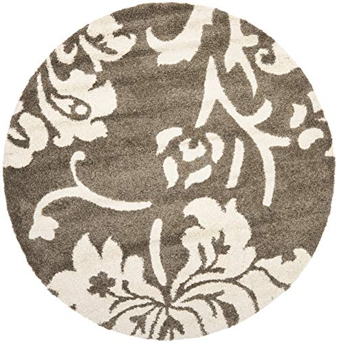 Safavieh Shag Flokati Rug – Shag Polypropylene Pile Latex Backing Weight 3600Gms Sqm Pile Height 3Cm -Dark Brown Smoke Style-A Dark Brown Smoke Shag Flokati 7 6 L x 5 3 W Medium Rectangle