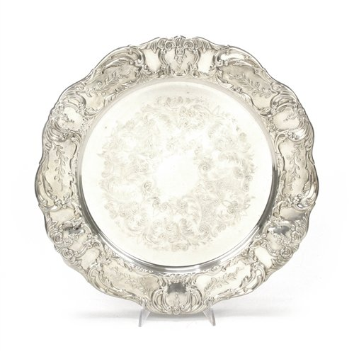 Grand Victorian by Wallace, Silverplate Round Tray