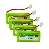 BT184342 BT284342 Cordless Phone Battery (AAA 800mAh 2.4V Ni-MH Rechargeable)Count 4pcs/4cards