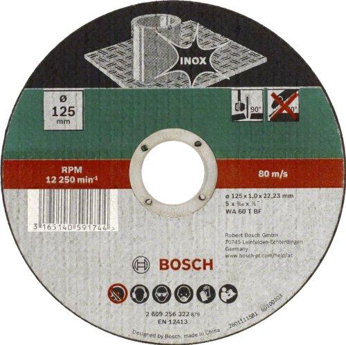 7 opinioni per Bosch Mola Taglio Dritta, Inox 125 x 22.23 x 1.0 mm