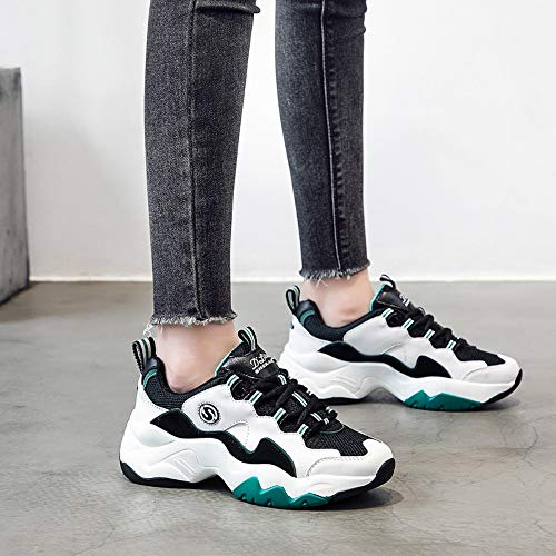Tamaño 6size Mujer 5 Calzado 7 Zhijinli Zapatos Panda Retro Informales Zapatillas Deportivas Gruesos De Calzados gqwp64p7O