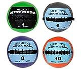 Soft Mega Medicine Ball Set- 4, 6, 8, 10 Lb