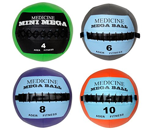 Soft Mega Medicine Ball Set- 4, 6, 8, 10 Lb by Ader Sporting Goods