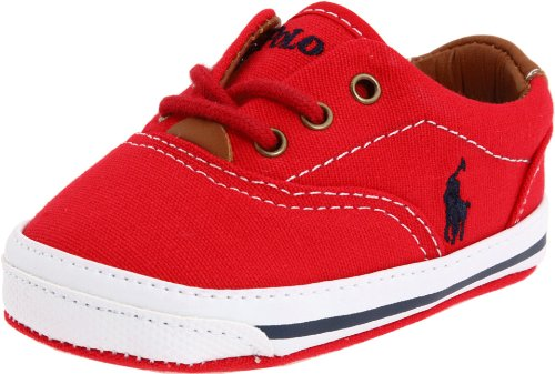 Lauren Layette Baby Ralph - Ralph Lauren Layette Vaughn Crib Shoe (Infant/Toddler),Red Canvas,1 M US Infant
