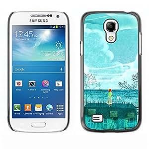 TopCaseStore / la caja del caucho duro de la cubierta de protección de la piel - Painting Whale Environment Global - Samsung Galaxy S4 Mini i9190 MINI VERSION!