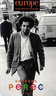Europe, n°993-994 : Georges Perec par Revue Europe