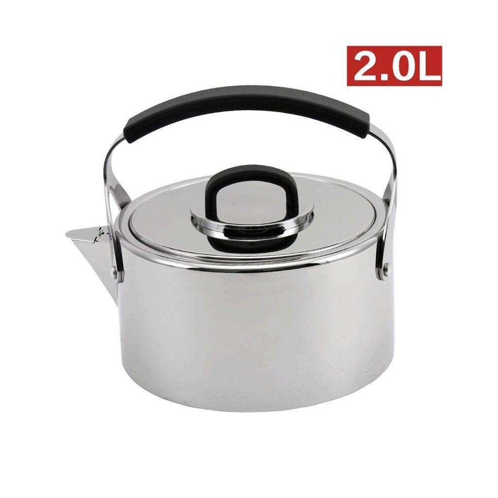 CHENGYI ホーム304ステンレススチール製のケトル厚い誘導クッカーガス一般的なケトルキッチンレストラン自動ホイッスル ( サイズ さいず : 2L ) B076V13MPW   2L