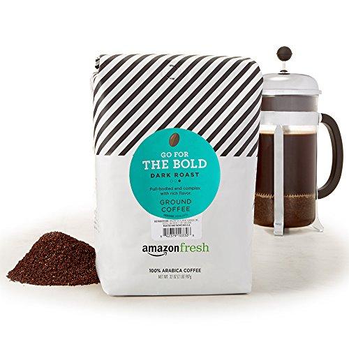 AmazonFresh Go For The Bold Ground Coffee, Dark Roast, 32 Ounce (Pack of 1)