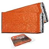 2 Premium Emergency Bivvy Bag - Survival Sleeping Bag, Emergency Blanket, Bushcraft - Thermal Insulation, Tear-Resistant Polyethylene - High Visibility, Portable, Weatherproof| Outdoor Camping Hiking