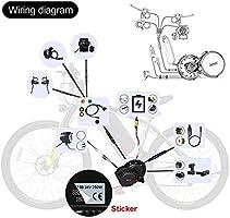 BAFANG BBSHD 1000W 48V Ebike Motor with LCD Display C18 Mid Drive Electric  Bike Conversion Kits