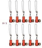 FEBNISCTE 100pcs 1GB Mini Red Cheap Bulk Pack USB 2.0 Memory Stick
