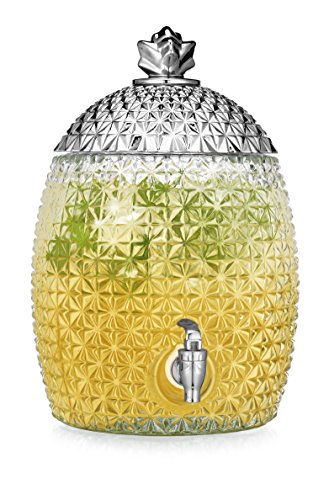 HC Glass Pineapple Large Drink Beverage Dispenser with Ea...