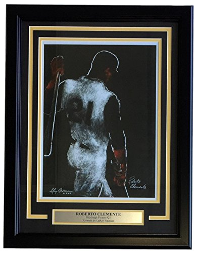 Leroy Neiman Framed 11x14 Roberto Clemente Pittsburgh Pirates Baseball Print (Clemente Framed Pirates Pittsburgh Roberto)