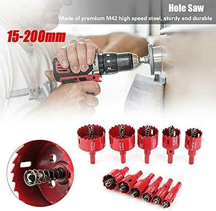 15-200 mm tuyau rouge SUPERTOOL M42 Scie-cloche bi-m/étal d/écapsuleur pour fer aluminium inoxydable m/étal bois plastique