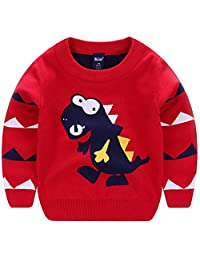 Kids Toddler Kids Little Girls Boys Dinosaurs Cartoon Pullover Sweaters Sweatershirt