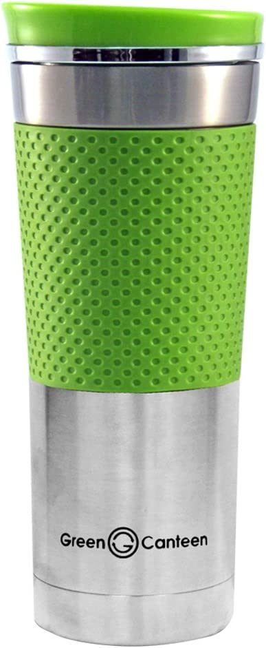 Green Canteen Double Wall Stainless Steel Coffee Mug, 16-Ounce, Green