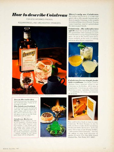 1967 Ad Vintage Cointreau French Orange Liqueur Cocktail Barbecue Sauce Recipe - Original Print Ad