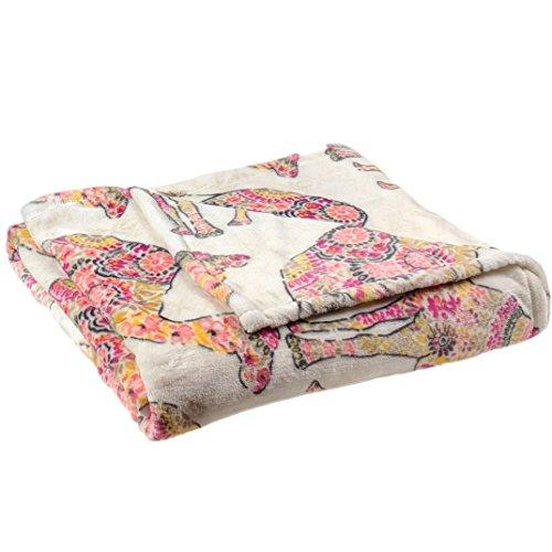 Fraiche Maison Velvet Plush Home Fleece Throw Blanket, 50