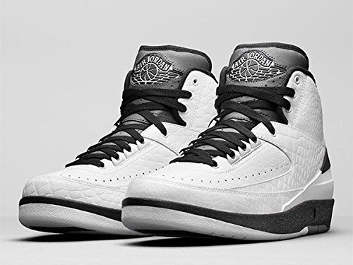 Jordan Air 2 Retro BG Big Kid's Shoes White/Black/Dark Grey 834283-103 (7 M US)]()