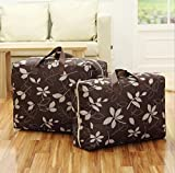 elegantstunning Coffee Oversized Storage bag for Tiding The Quilt Convienient