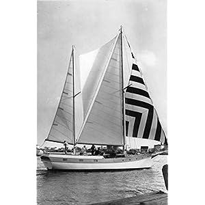 Ketch Yankee Sailboat Irving M Johnson Actual Photo Antique Postcard J56454