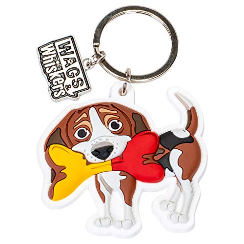 Wags and Whiskers Beagles Key Chain with Keyring/Key Holder (886767111858) ()