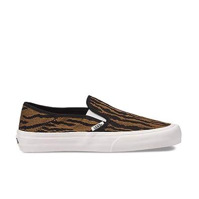07aea121 Amazon.com | Vans Unisex Slip On SF Woven Tiger/Black Sneaker Men's ...