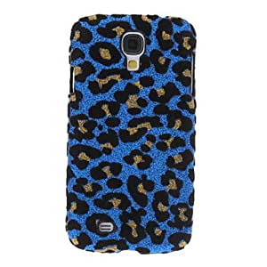 Bling Leopard Print Pattern Hard Back Cover Case for Samsung Galaxy S4 I9500 , Blue