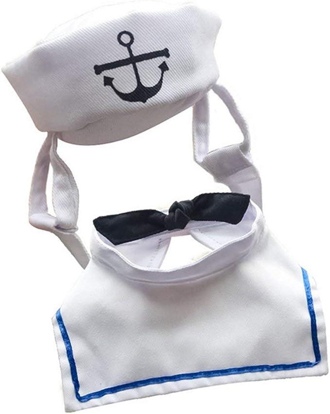Passionsell - Disfraz de Marinero para Mascota, Color Azul Marino ...